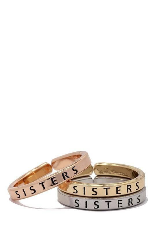"""SISTERS""-TRIO RING SET - Lala Shoes"
