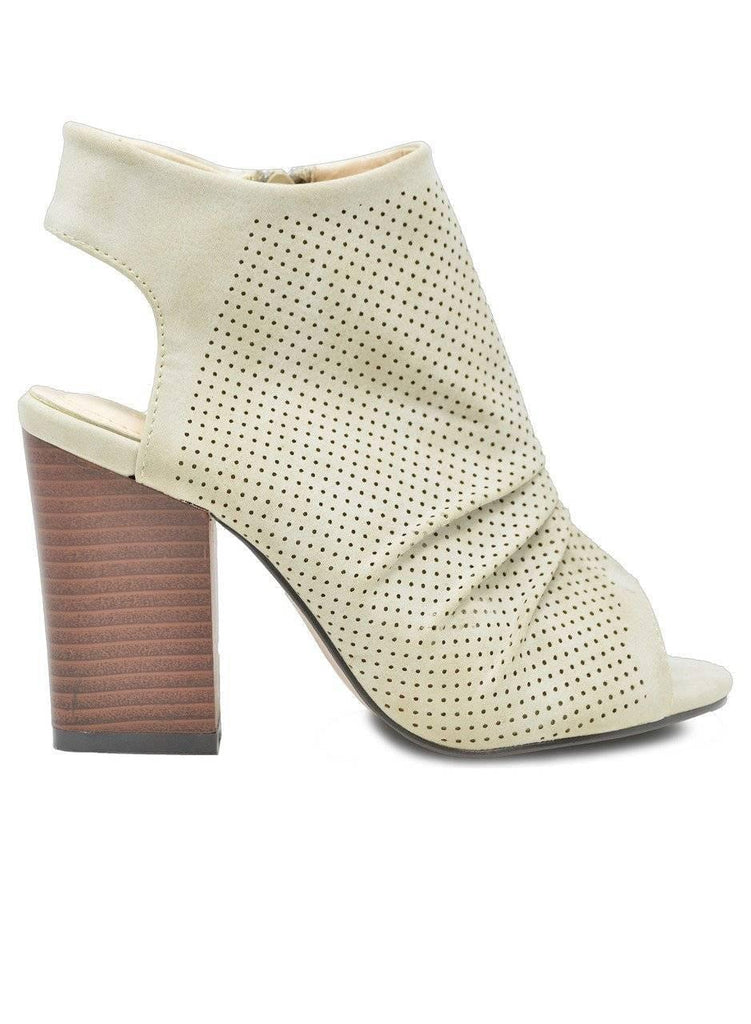 """CLASSIC BABE"" BLOCK WOOD HEEL BOOTIE - Lala Shoes"