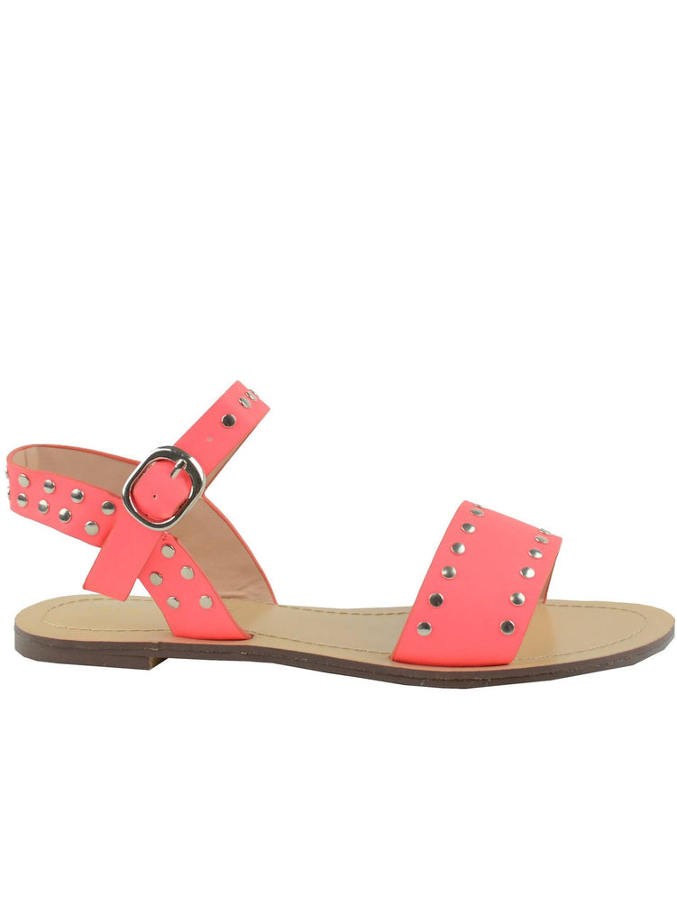"""SPRING NON STOP""- FLAT SANDAL - Lala Shoes"