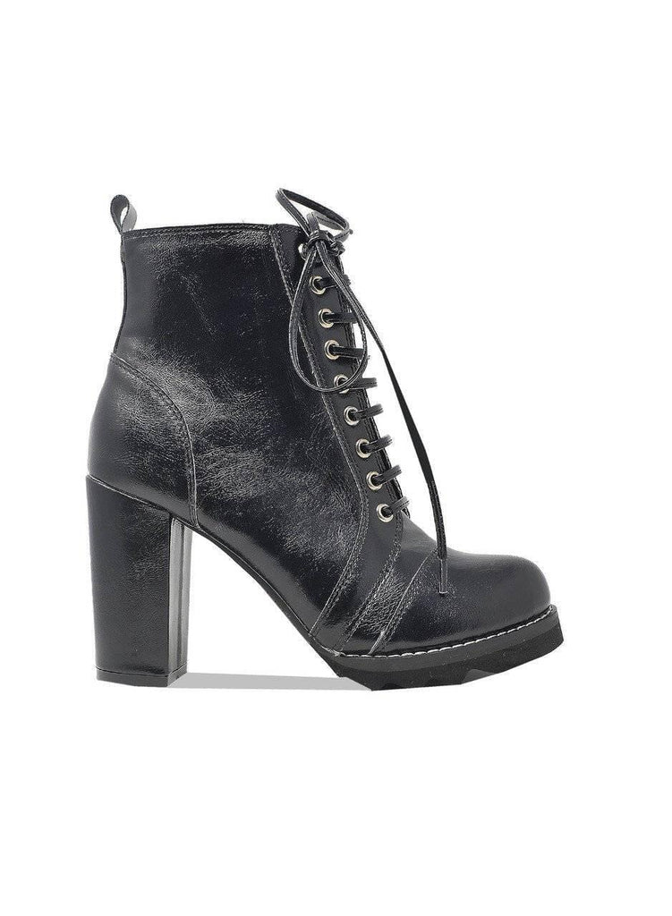 """SOLE SISTER"" CHUNKY HEELED BOOTIE - Lala Shoes"