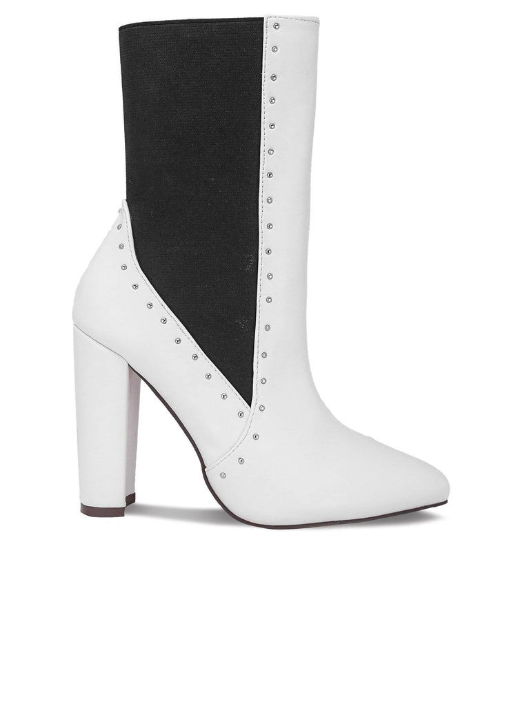 """AUBREE HOUSTON""- WOMEN'S CHUNKY HEEL BOOTS - Lala Shoes"