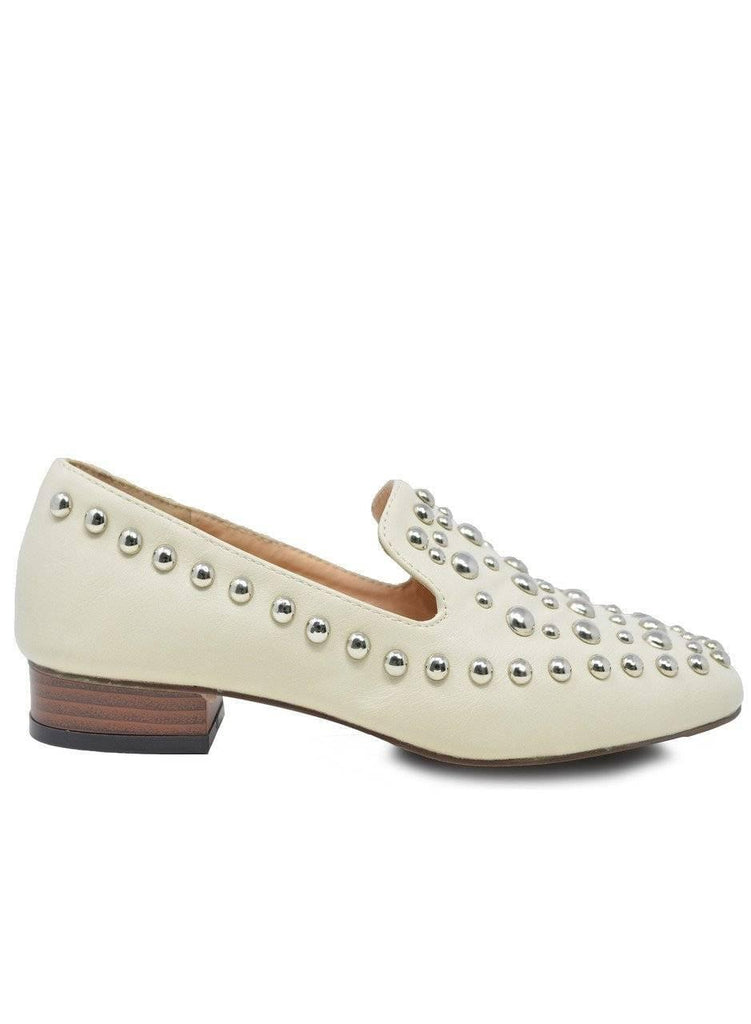 """UPTOWN GIRL"" STUDDED SLIP ON MULE - Lala Shoes"