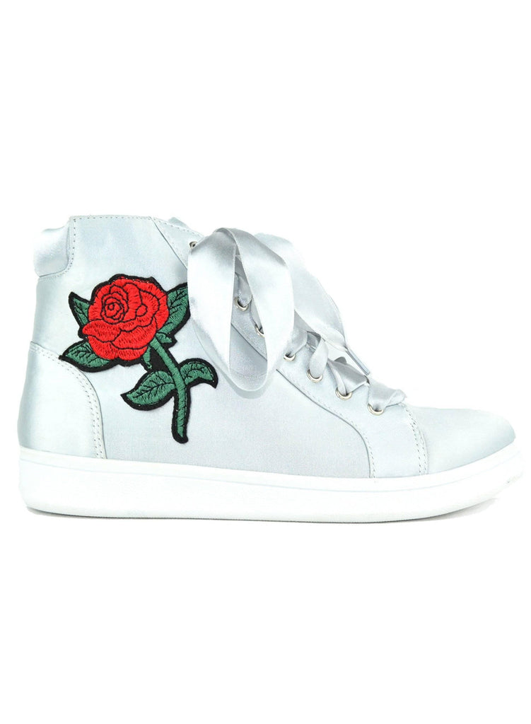 """PROFESSIONALS CHOOSE BLOCH."" - ROSE EMBROIDERED SNEAKER - Lala Shoes"
