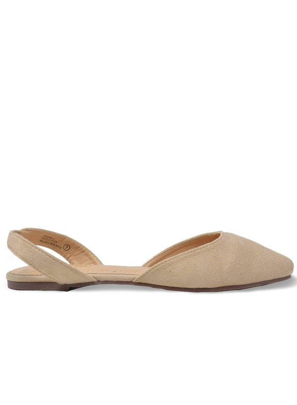 """NADINE""- WOMEN'S SLINGBACK FLAT - Lala Shoes"