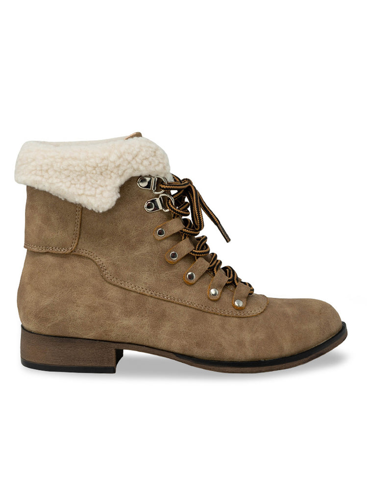 """TRINITY"" - TAUPE SUEDE CHELSEA ANKLE BOOTIE"