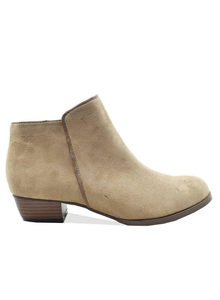 """BARE NECESSITY""- SUEDE BOOTIE - Lala Shoes"