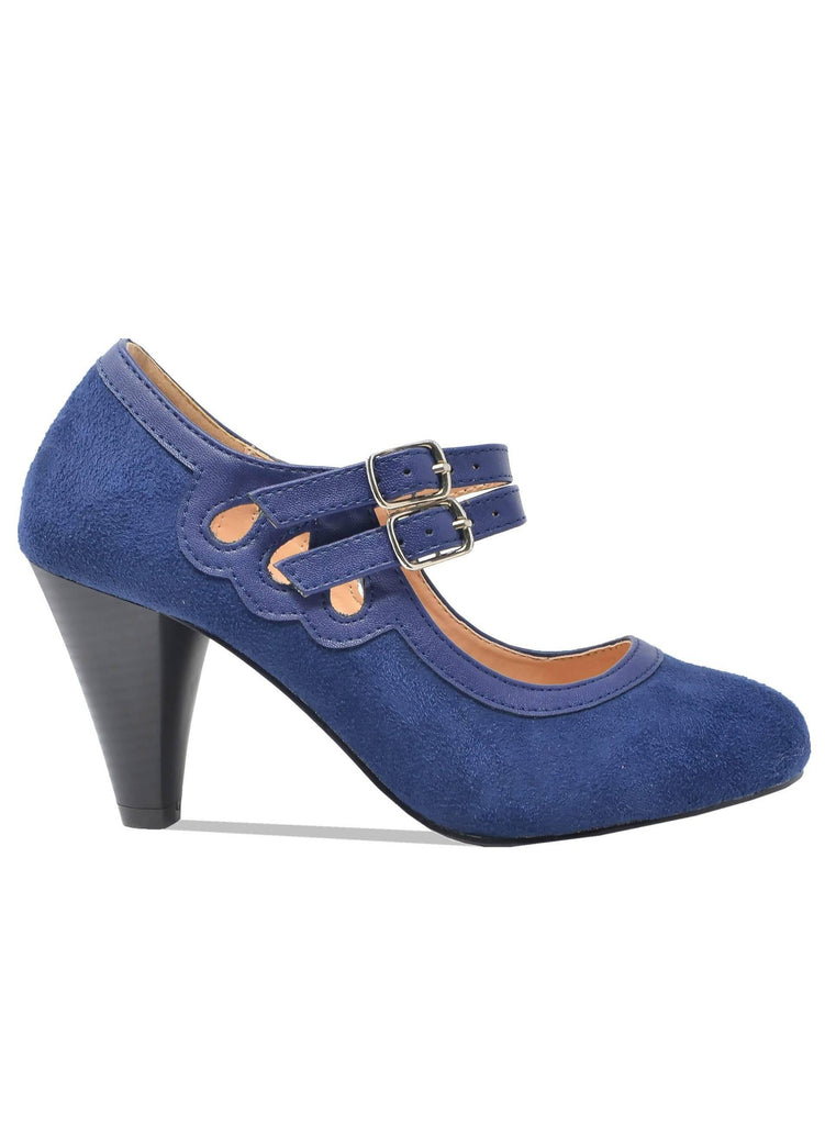 """AMINAH""- WOMEN'S MARY JANES HEELS - Lala Shoes"