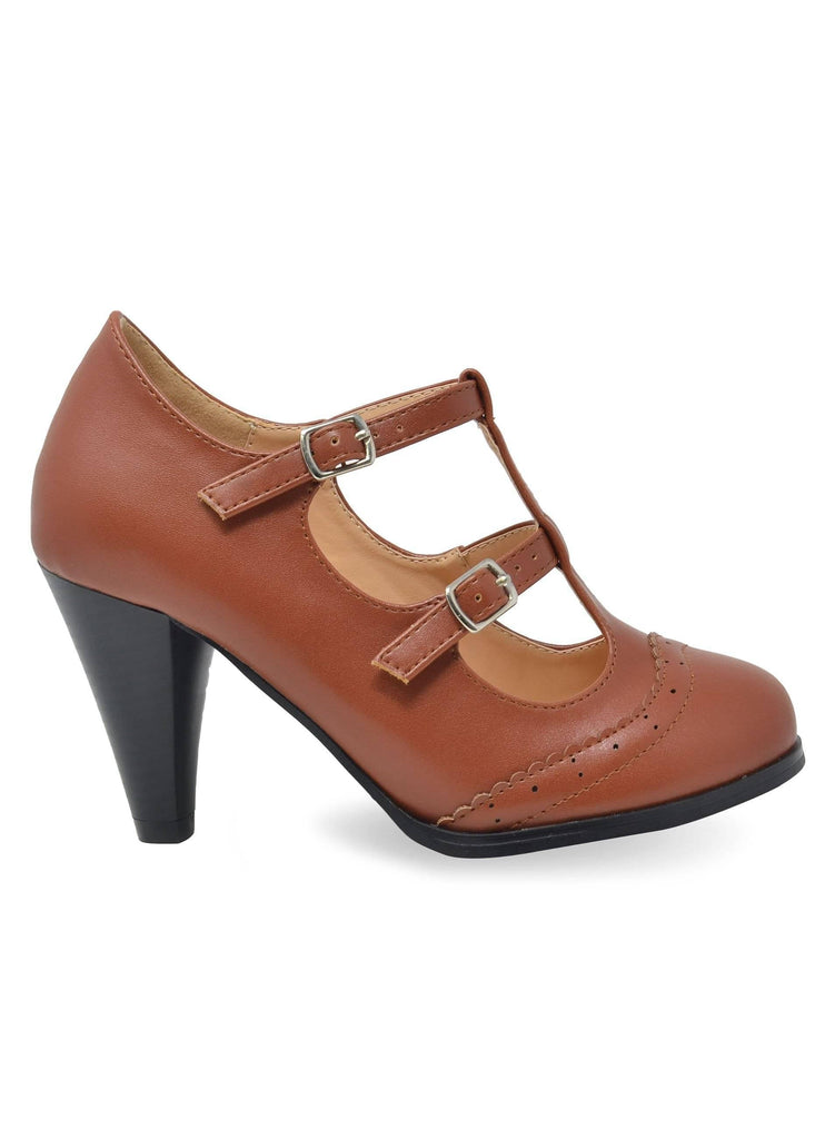 """LULU""- WOMEN'S T-STRAP HEELS - Lala Shoes"