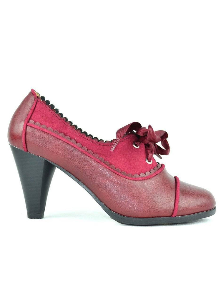 """VINTAGE IS MY SPORT"" - HEELED OXFORD - Lala Shoes"