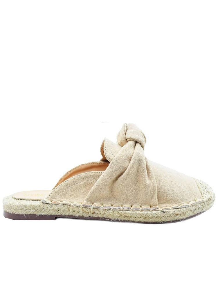"""FOR THE LOVE OF KNOT""-ESPADRILLE SLIDE - Lala Shoes"