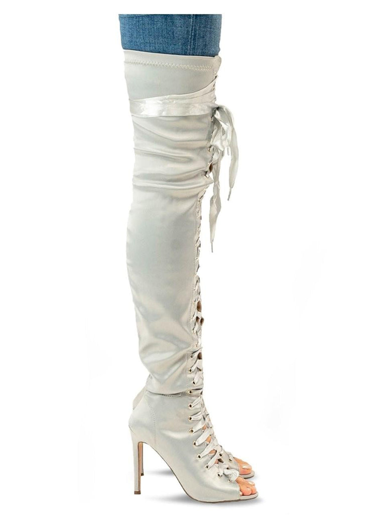 """ ALEESHA "" - THIGH HIGH BOOT - Lala Shoes"