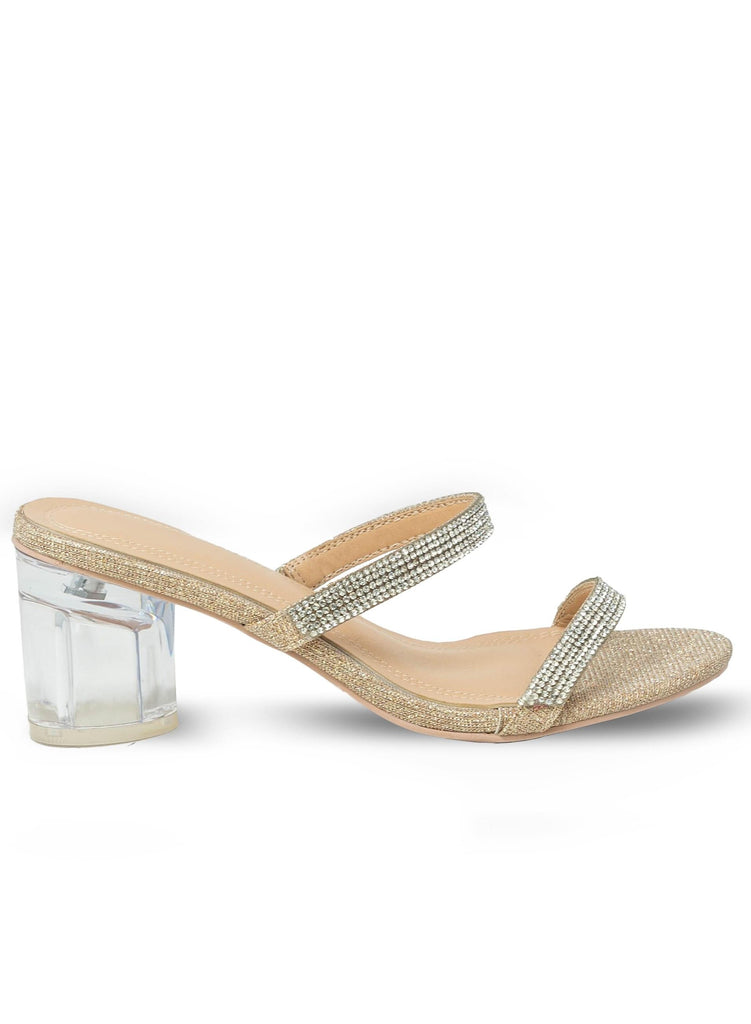 """ALIVIA"" - CLEAR HEEL WITH RHINESTONES STRAPS - Lala Shoes"