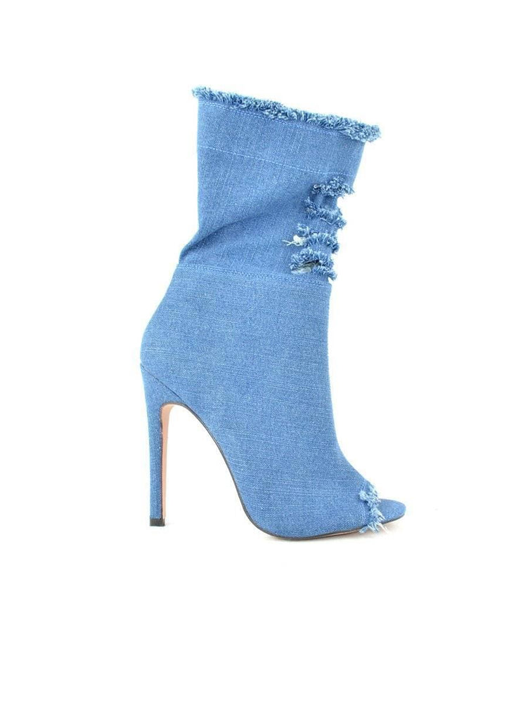 """ALMOST A PART OF YOU"" - DENIM BOOTIE - Lala Shoes"