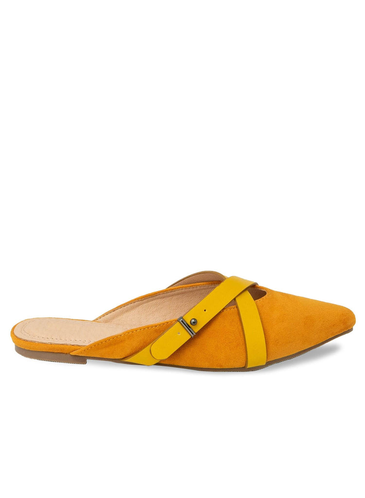"""CHANTEY HANDLEY"" - FLAT WITH X STRAP - Lala Shoes"