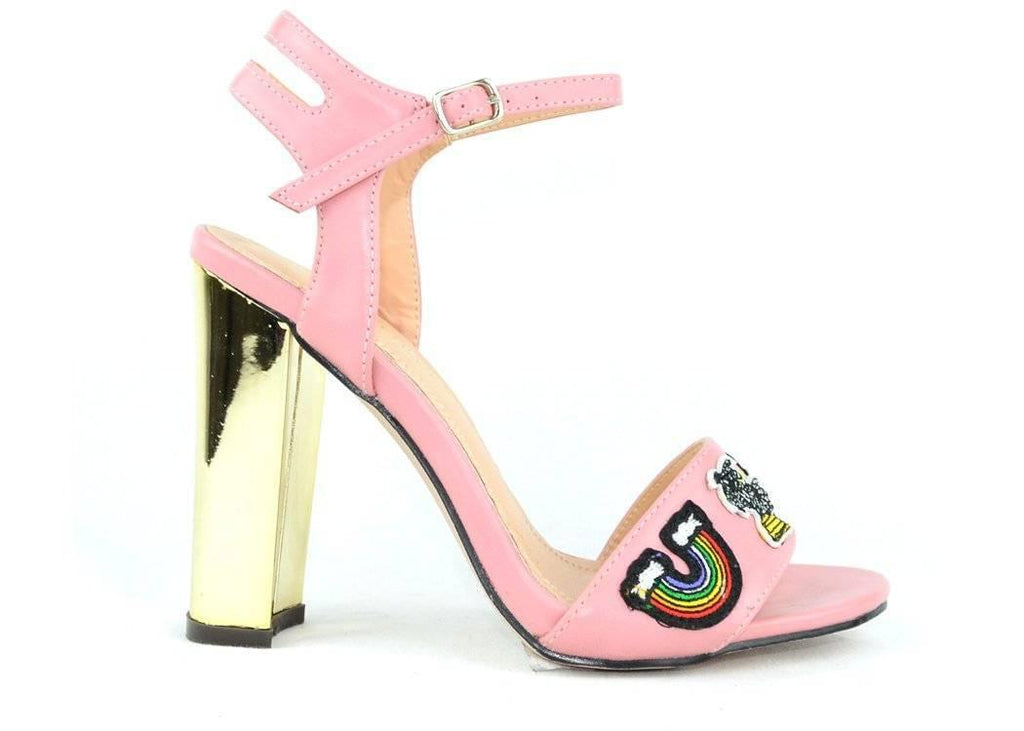 """OVER THE RAINBOW"" - HEELED SANDAL - Lala Shoes"