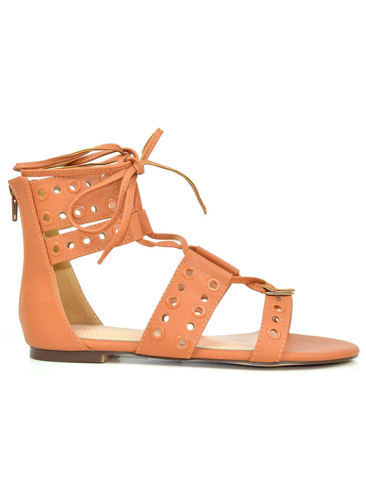 """DISCOVER THE WORLD"" - LACE UP SANDAL - Lala Shoes"
