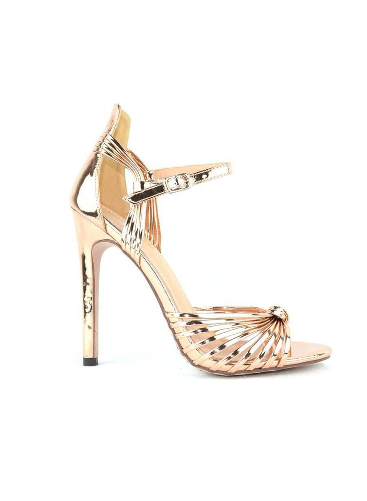 """STRAPPY, ANYTIME OF DAY"" - KNOTTED HEELS - Lala Shoes"