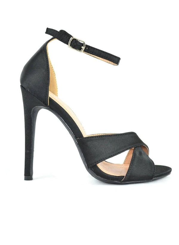 """THE SATIN TREATMENT"" -HEELED SANDAL - Lala Shoes"