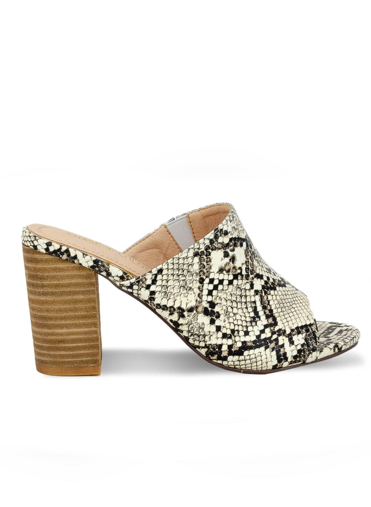 """AQSA BRITTON""- CHUNKY STACKED HEEL MULE - Lala Shoes"