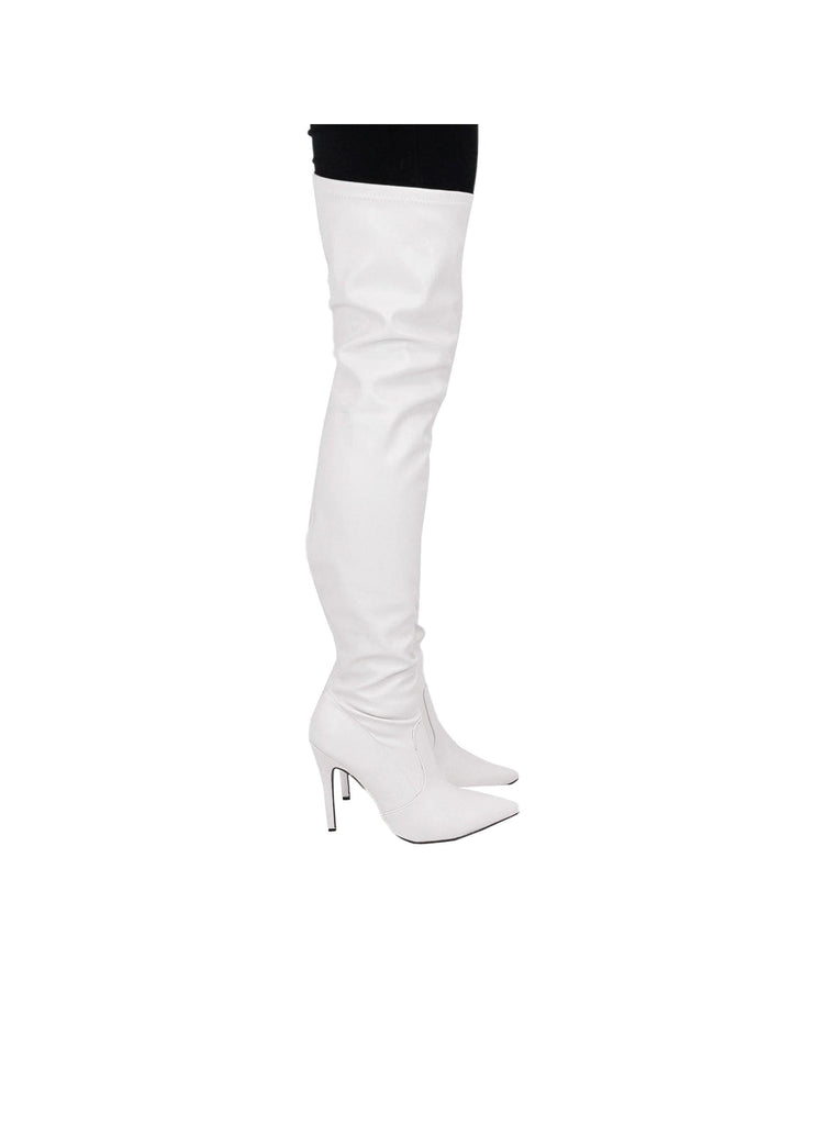 """TILLY"" - THIGH HIGH STILETTO BOOT - Lala Shoes"