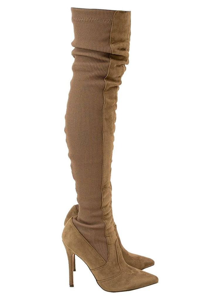 """ELONGATE""-OVER THE KNEE SOCK BOOT - Lala Shoes"