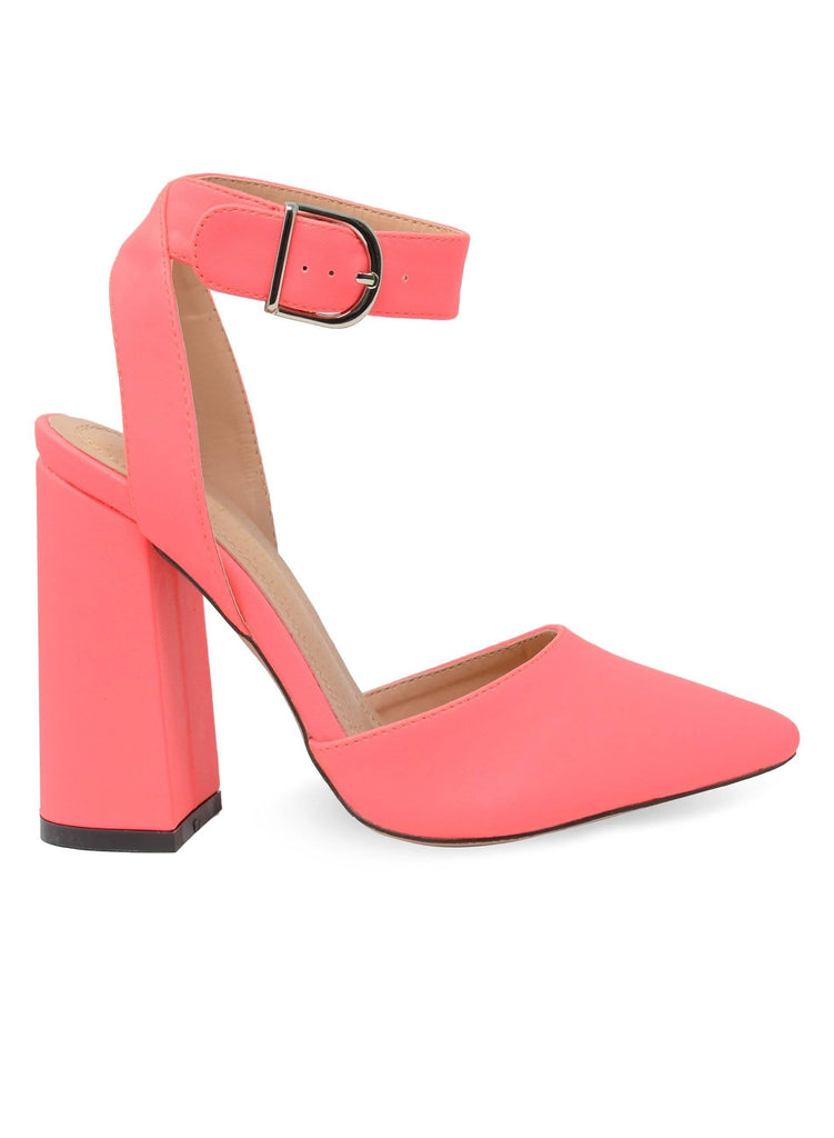 """MADDIE"" - WOMEN'S ANKLE STRAP CHUNKY HEELS - Lala Shoes"