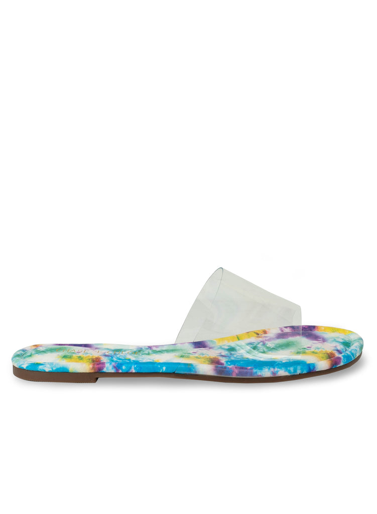 """MINTY"" - WOMAN'S PURPLE TIE DYE FLAT"