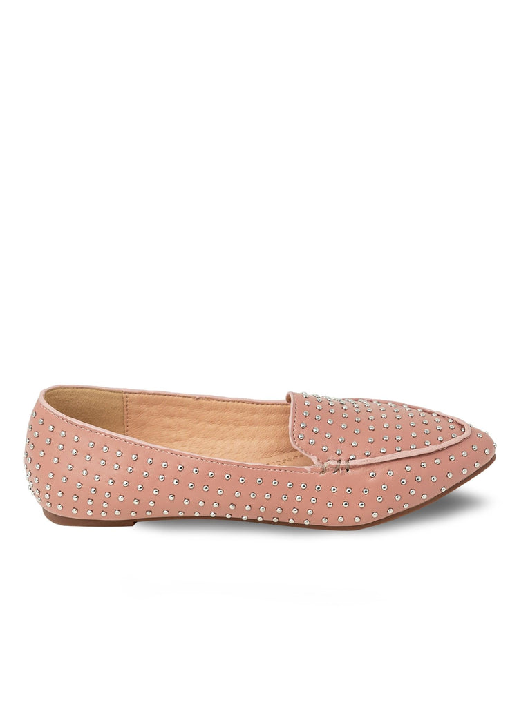 """AMIRAH""- STUDDED POINTY FLAT - Lala Shoes"