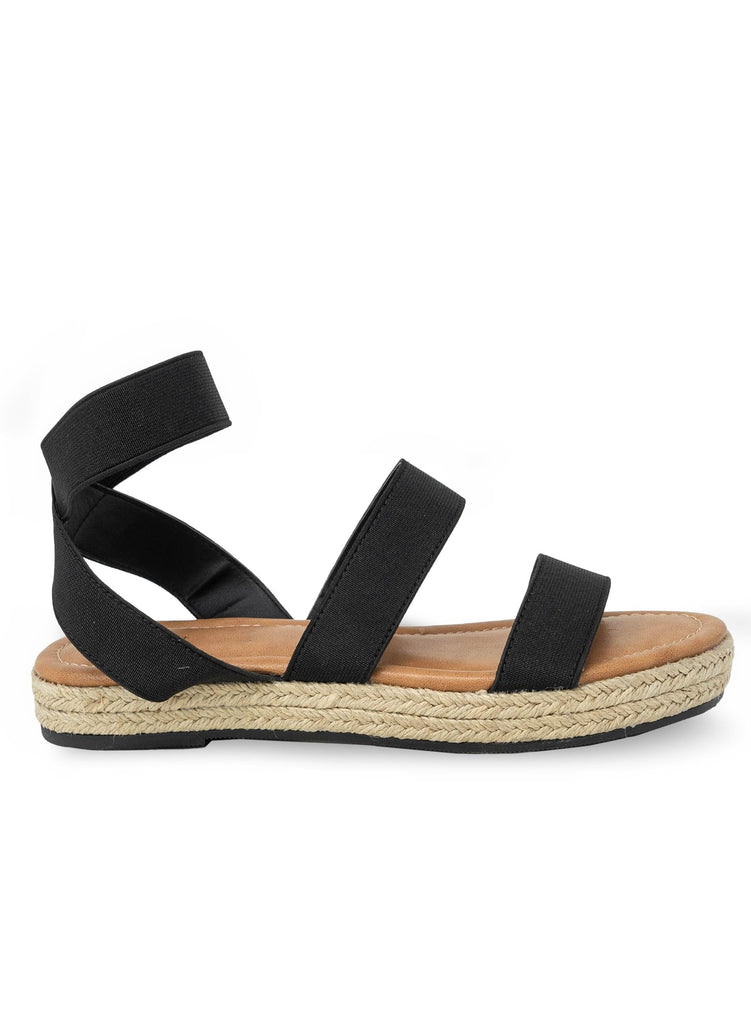 """SOFIJIA"" - ESPADRILLE FLATS WITH ELASTIC STRAP - Lala Shoes"