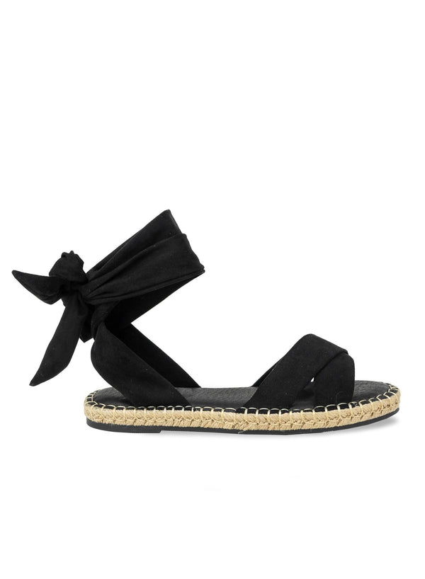 """MASON"" - SELF-TIE LACE UP SANDAL - Lala Shoes"