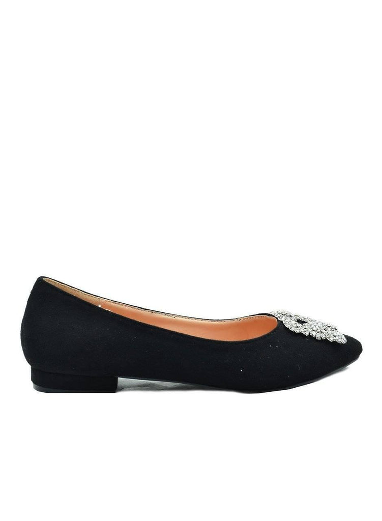 """BUCKLE UP!""-POINTED TOE FLATS - Lala Shoes"