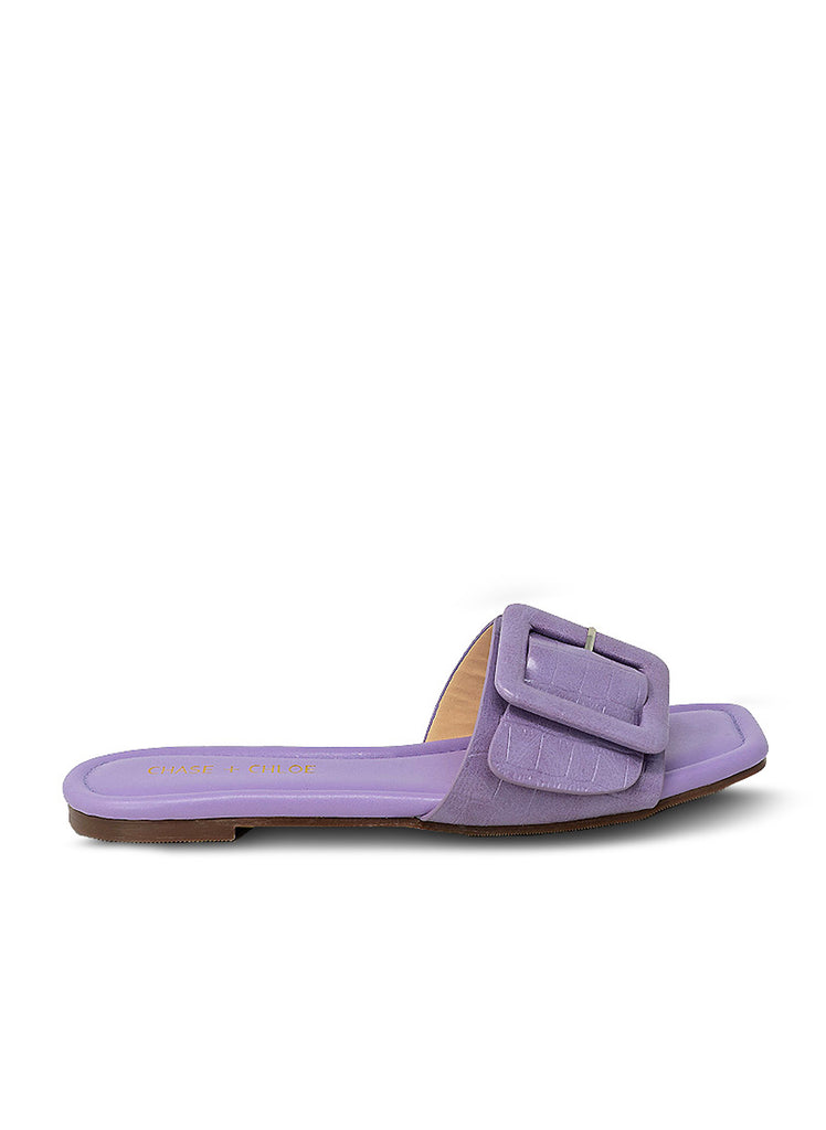 """PECAN"" - WOMAN'S PURPLE BALLET FLAT"