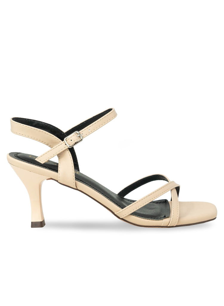 """Wildberry""- Women's Nude Kitten Heeled Sandal"