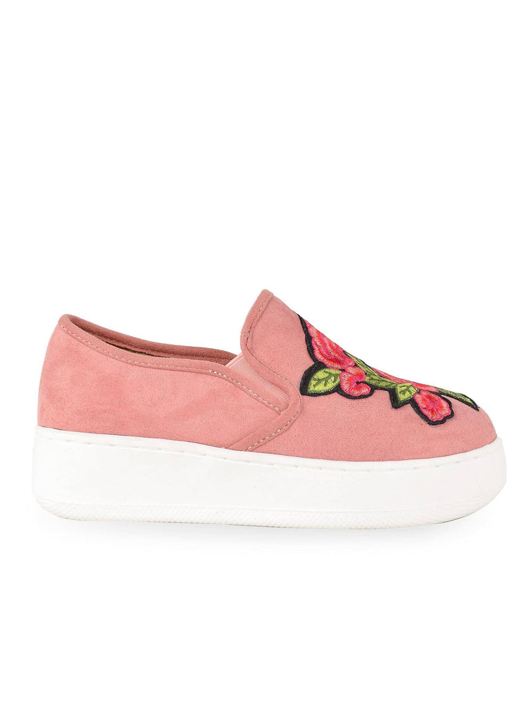 """LAAIBAH"" - WOMEN'S PLATFORM SLIP ON SNEAKERS - Lala Shoes"
