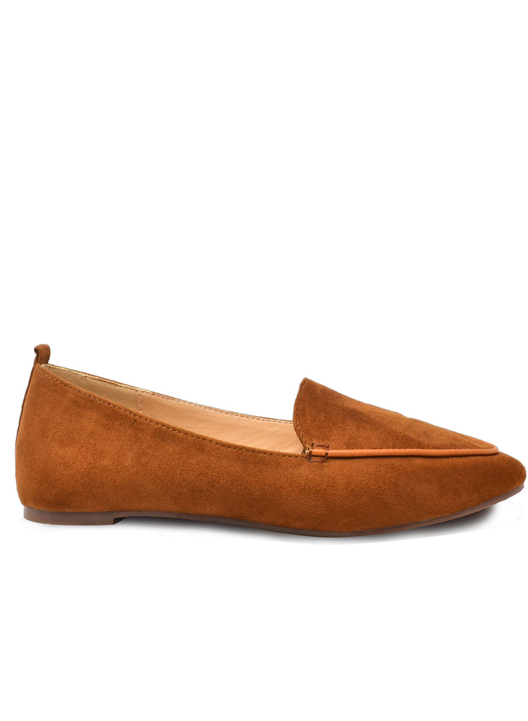 """HARLEY""- WOMEN'S TAN SLIP ON FLATS"