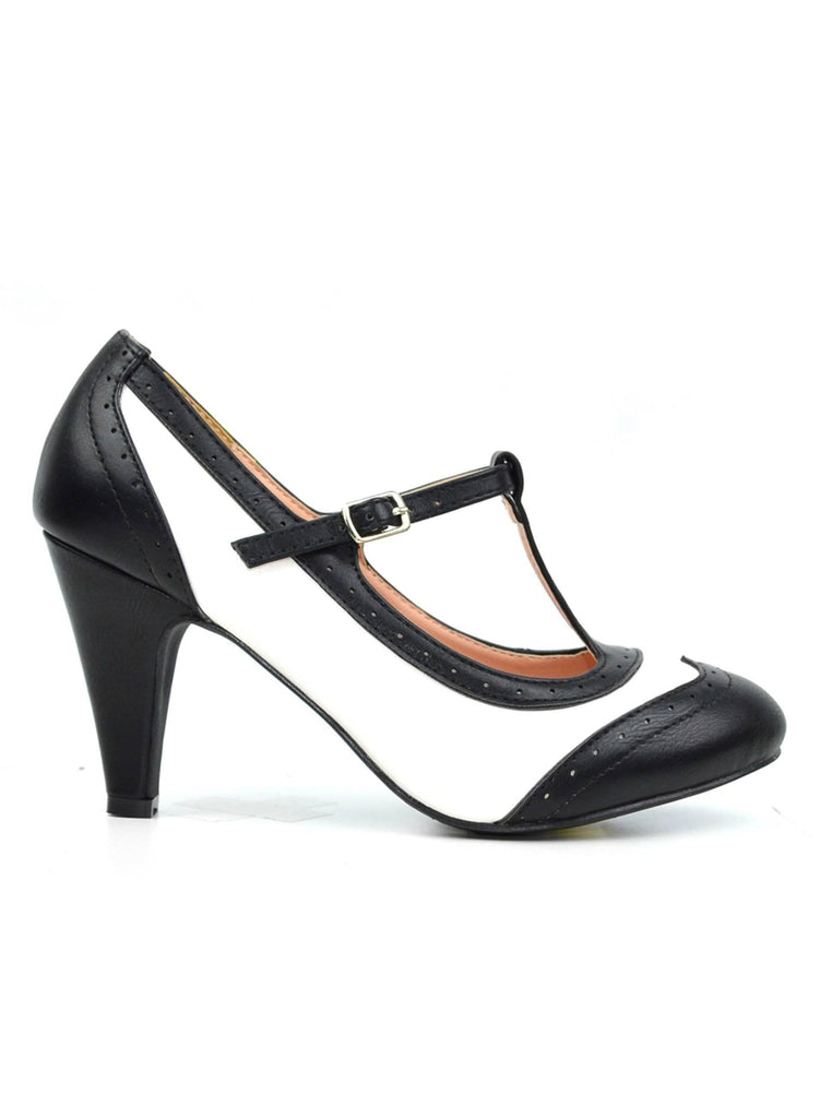"""ALINA""- WOMEN'S T- STRAP HEELS - Lala Shoes"