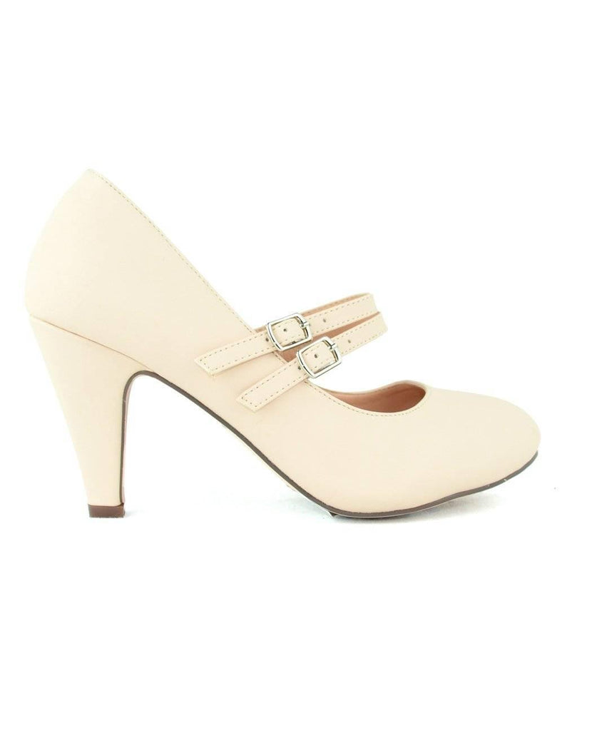 """BARBIE KNOWS HOW"" - NUDE PUMP SHOES - Lala Shoes"