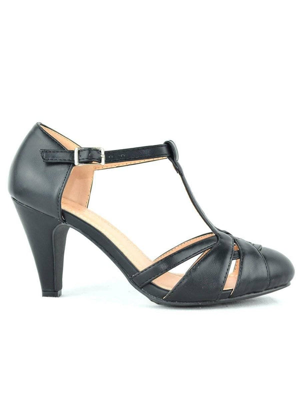 """UNZIP A FASHION"" - BLACK PUMP SHOES"
