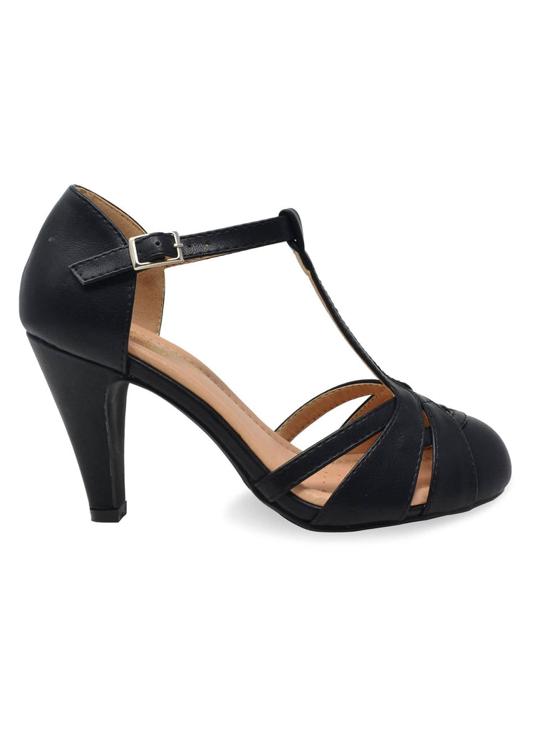 """DITA"" - WOMEN'S T-STRAP HEELS - Lala Shoes"
