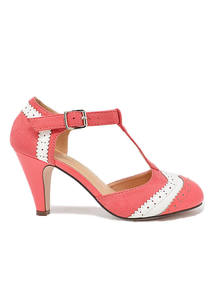 """SPENCER""- WOMEN'S T-STRAP SLIM HEELS - Lala Shoes"