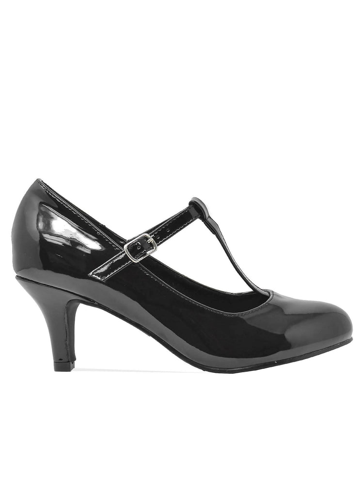 """HEEL BEYOND""- WOMEN'S T-STRAP HEELS - Lala Shoes"