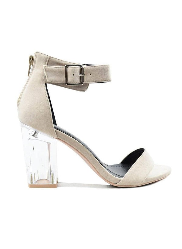 """IT'S ELEGANT TIME""-NUDE ANKLE STRAP HEEL"