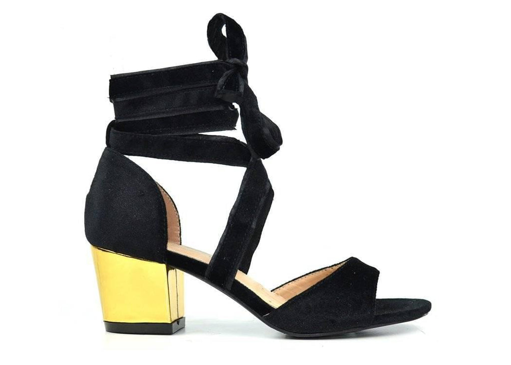 """WRAPPED UP WITH PROM"" - BLOCK HEEL SANDAL - Lala Shoes"