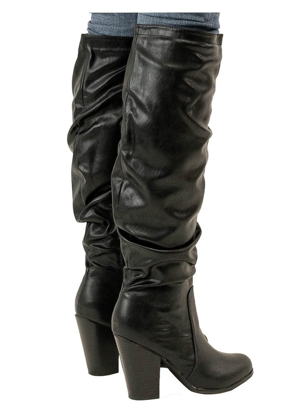 SAINT - SLOUCHY THIGH HIGH BOOTS - Lala Shoes