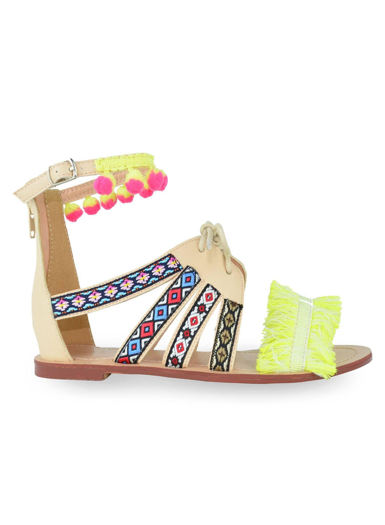 """MYERS"" - WOMEN'S ANKLE STRAP SANDALS - Lala Shoes"
