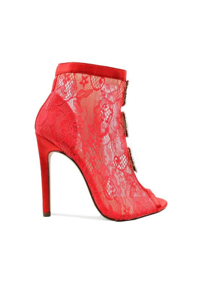 """IT'S A LACE LIFESTYLE""- BOOTIE HEEL - Lala Shoes"