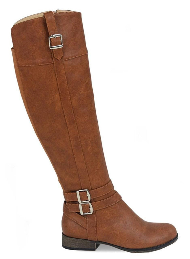 """WANDERLUST""-FAUX LEATHER RIDING BOOTS - Lala Shoes"