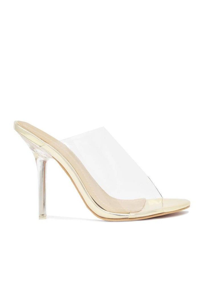 """CLEAR WONDERS""-LUCITE HEEL - Lala Shoes"