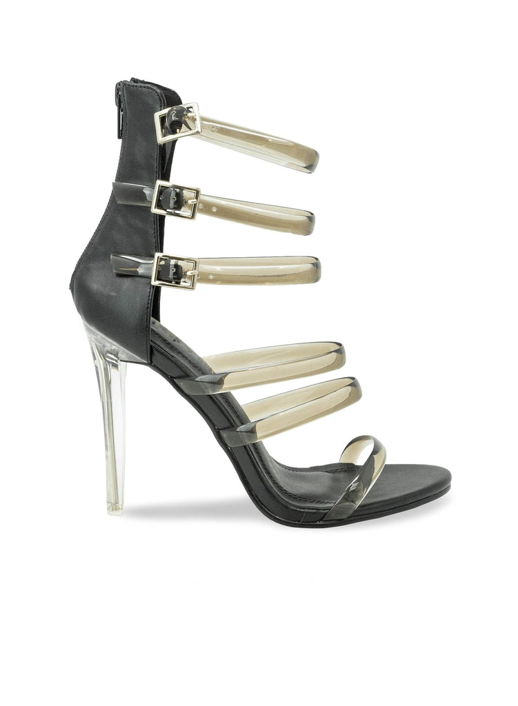 """AALIYA PROCTOR"" - MULTI STRAPS WOMEN'S HEEL - Lala Shoes"