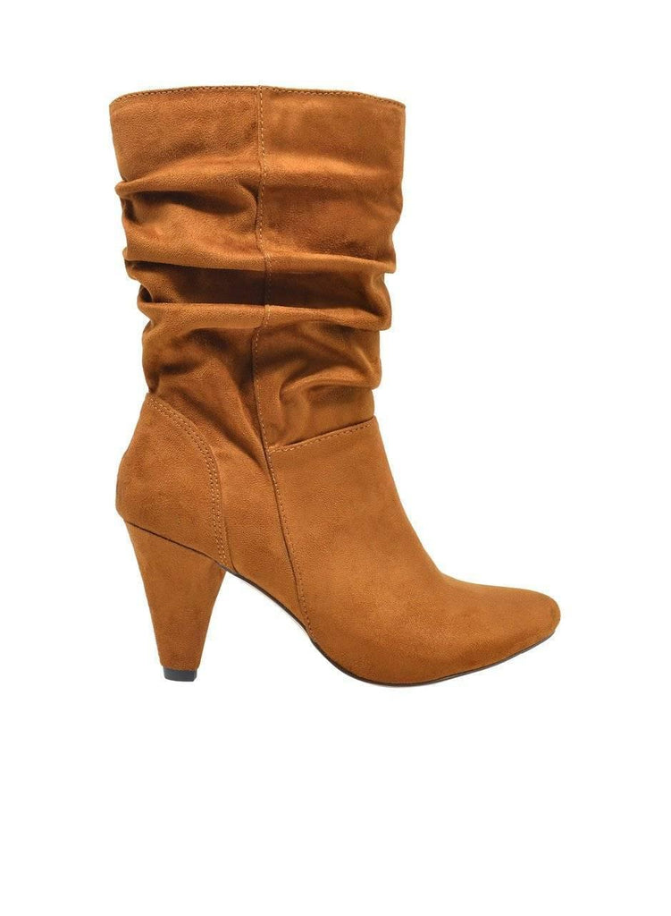 """LOVE LUST"" SLOUCHY SUEDE BOOTIES - Lala Shoes"